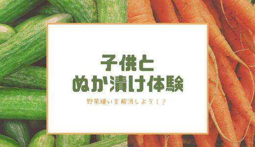 実はぬか漬けは簡単だった!子供と体験したら野菜を食べてくれた話