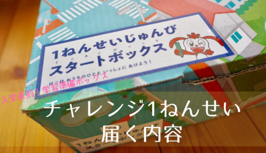 【入学直前!学習準備ボックス】チャレンジ1ねんせい 届く内容は?